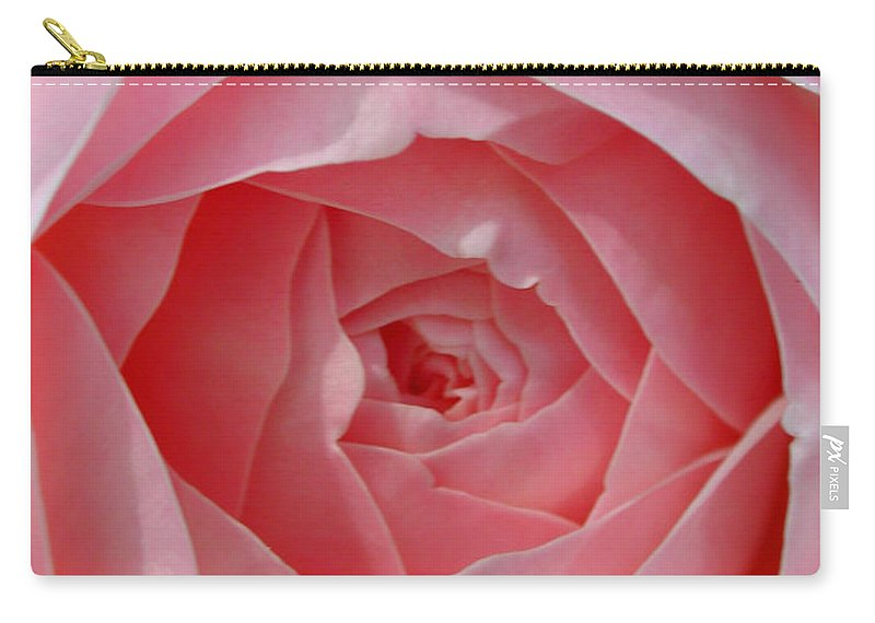 Rose Carry-all Pouch featuring the photograph Rose Opening by Susan Bloom