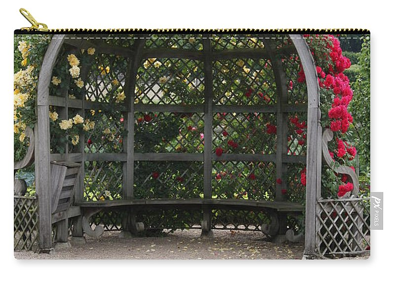 Roses Carry-all Pouch featuring the photograph Rose Pavilion At Chateau Villandry by Christiane Schulze Art And Photography