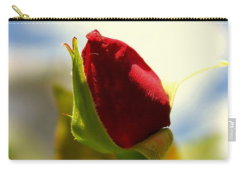 People Carry-all Pouch featuring the photograph Rosebud by Debra Forand