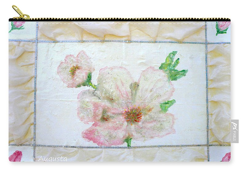 Augusta Stylianou Carry-all Pouch featuring the painting Roses by Augusta Stylianou