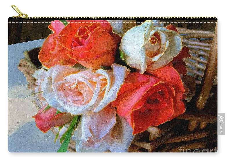 Still Life Carry-all Pouch featuring the painting Roses Florentine by RC DeWinter