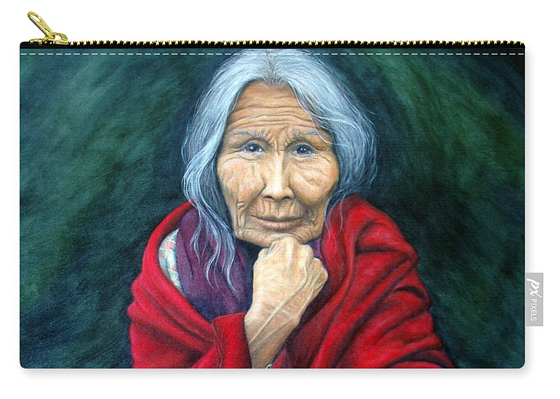 1st Nations Carry-all Pouch featuring the painting Rosie Remembered by Joey Nash