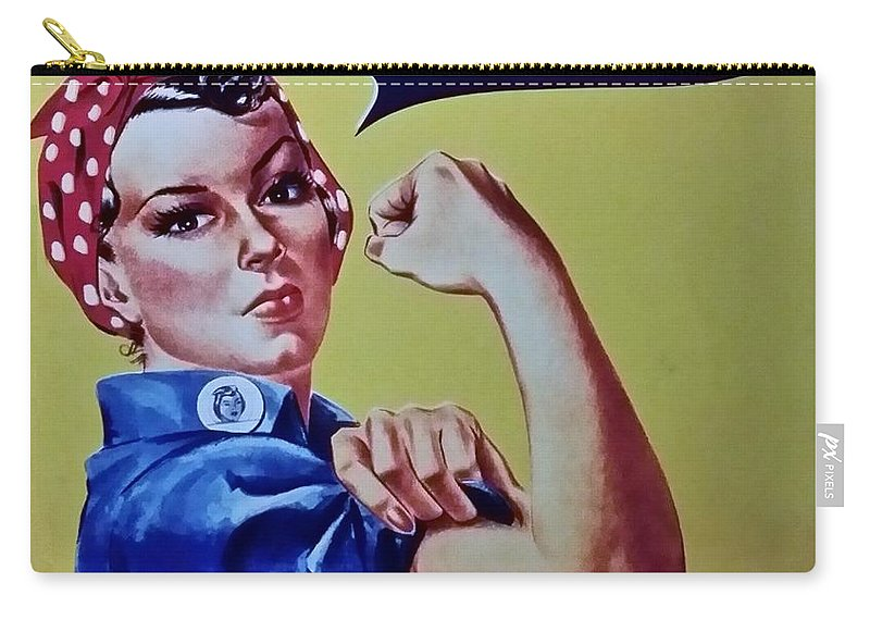 Rosie The Riveter Carry-all Pouch featuring the photograph Rosie by Rob Hans