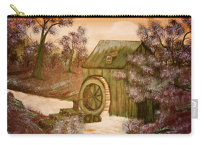 Ross's Watermill Carry-all Pouch featuring the painting Ross's Watermill by Barbara Griffin