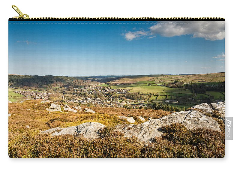Northumberland Carry-all Pouch featuring the photograph Rothbury Town From The Terraces by David Head