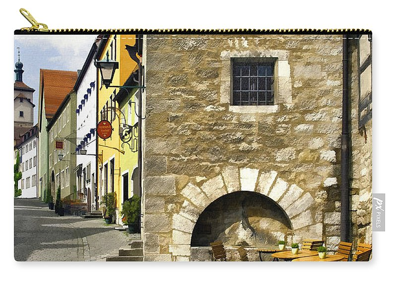 Rothenberger Carry-all Pouch featuring the photograph Rothenberger Cafe by Sharon Foster