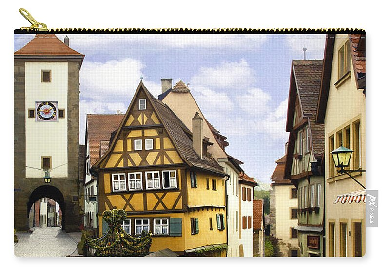 Rothenburg Carry-all Pouch featuring the photograph Rothenburg Marketplatz by Sharon Foster