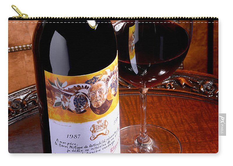Chateau Mouton Rothschild Carry-all Pouch featuring the photograph 87 Rothschild by Jon Neidert