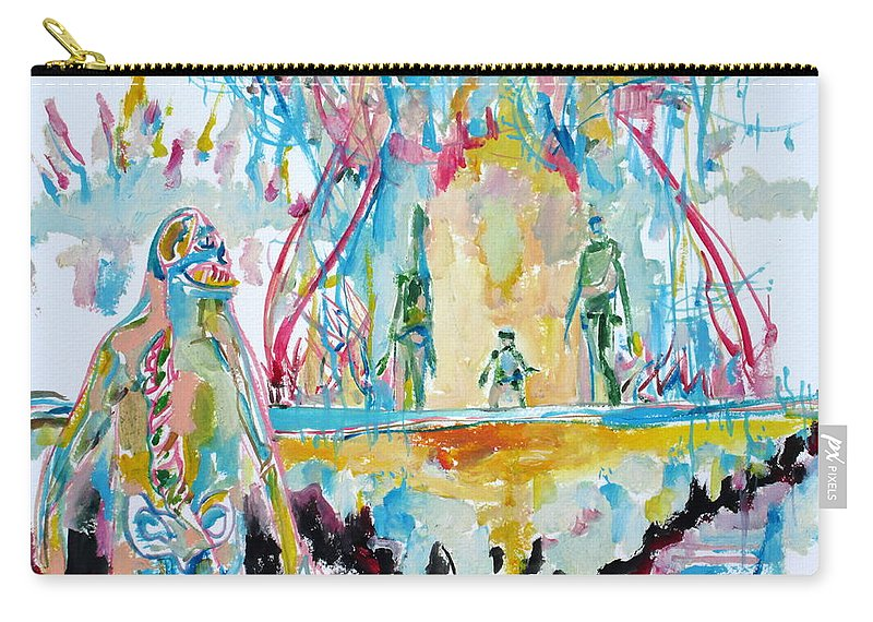 Monster Carry-all Pouch featuring the painting Rotten Friends-we Love Them All by Fabrizio Cassetta