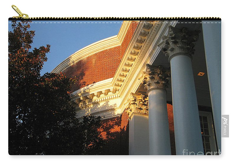 University Of Virginia Carry-all Pouch featuring the photograph Rotunda At The University Of Virginia by Jason O Watson