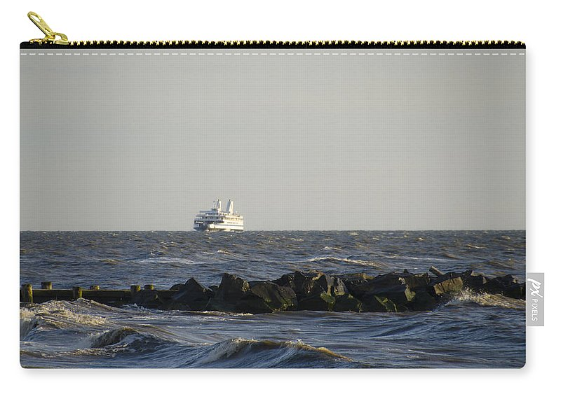 Rough Carry-all Pouch featuring the photograph Rough Seas by Bill Cannon