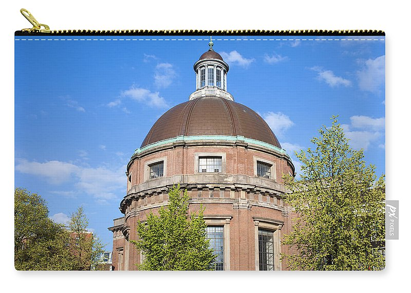 Round Carry-all Pouch featuring the photograph Round Lutheran Church In Amsterdam by Artur Bogacki