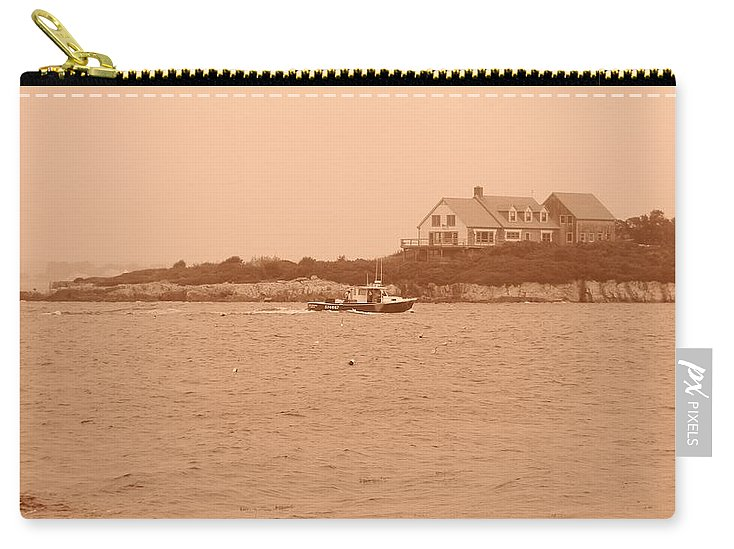 Maine Carry-all Pouch featuring the photograph Rounding The Point by Jean Goodwin Brooks