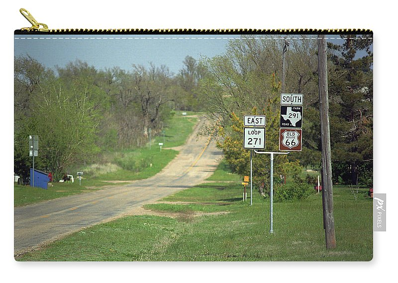 66 Carry-all Pouch featuring the photograph Route 66 - Alanreed Texas by Frank Romeo
