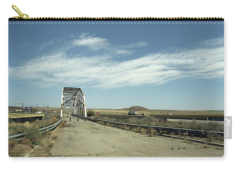66 Carry-all Pouch featuring the photograph Route 66 Bridge - New Mexico by Frank Romeo