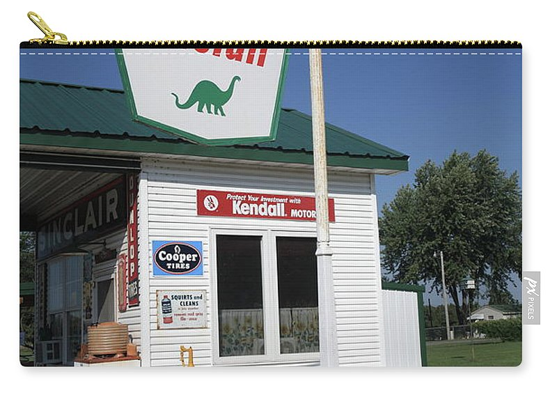 66 Carry-all Pouch featuring the photograph Route 66 - Sinclair Station by Frank Romeo
