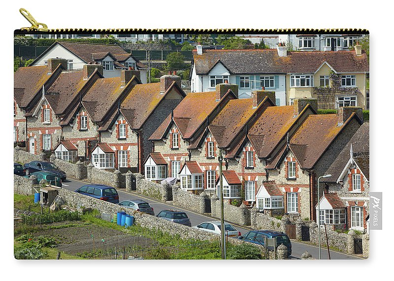 Row House Carry-all Pouch featuring the photograph Row Of Houses by Allan Baxter