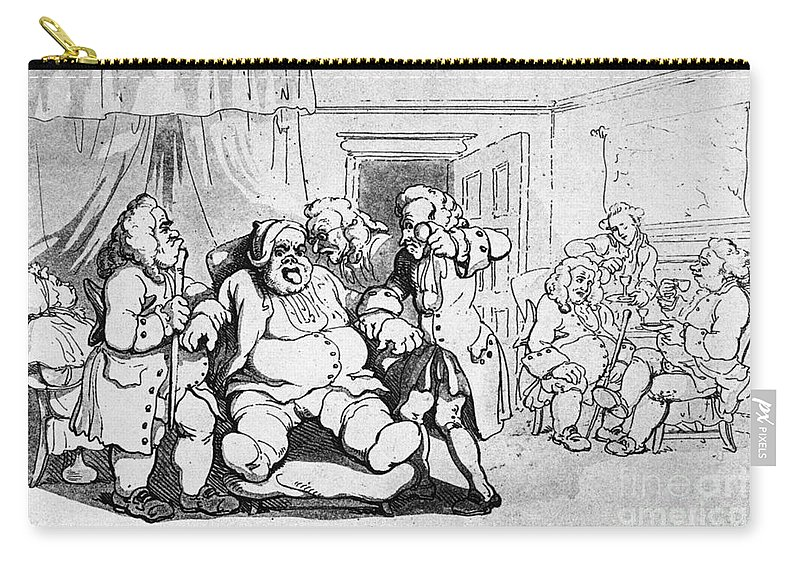 1798 Carry-all Pouch featuring the photograph Rowlandson: Quack Doctor by Granger