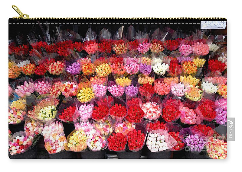 A Lot Carry-all Pouch featuring the photograph Rows Of Roses by Amy Cicconi