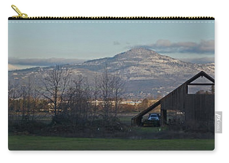 Barn Carry-all Pouch featuring the photograph Roxy Ann And Mt Mclaughlin by Mick Anderson