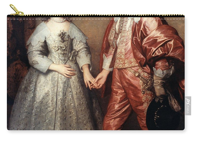 1641 Carry-all Pouch featuring the painting Royal Couple, 1641 by Granger