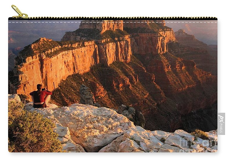 Grand Canyon Carry-all Pouch featuring the photograph Royal Meditation by Adam Jewell