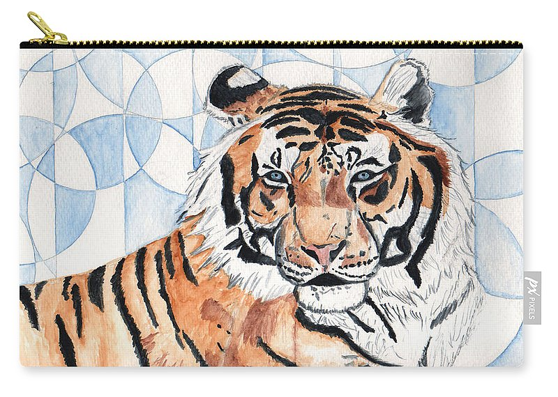Tiger Carry-all Pouch featuring the painting Royal Mysticism by Crystal Hubbard