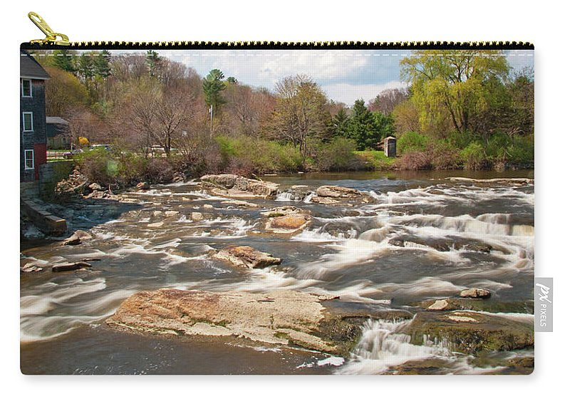 Waterfalls Carry-all Pouch featuring the photograph Royal River 0161 by Guy Whiteley