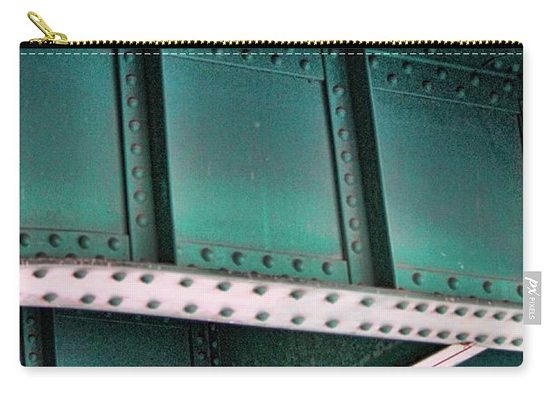 Rivets Carry-all Pouch featuring the photograph Rrrivets by Sylvia Thornton