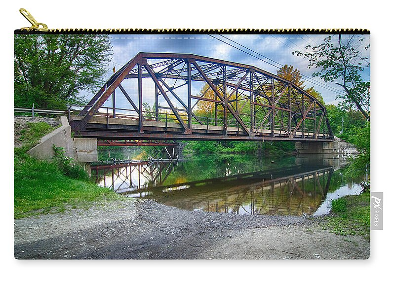 Bridges Carry-all Pouch featuring the photograph Rt 106 Bridge by Guy Whiteley