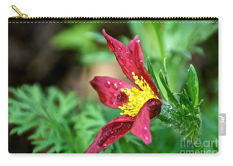 Flower Carry-all Pouch featuring the photograph Ruby Riches by Susan Herber