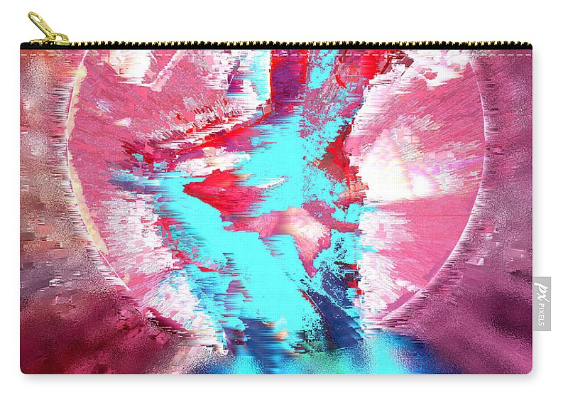 Ruby Carry-all Pouch featuring the digital art Ruby by Seth Weaver
