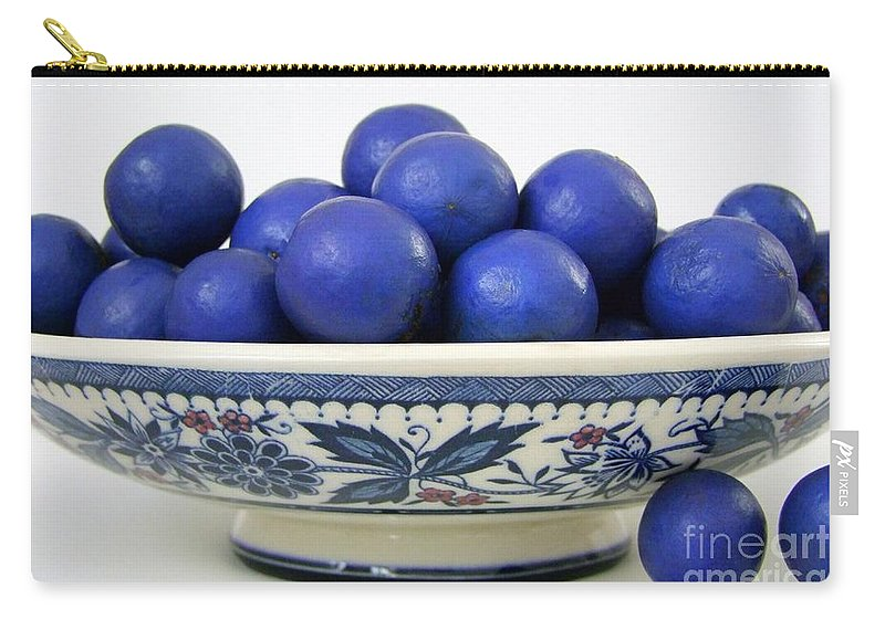 Seedpods Carry-all Pouch featuring the photograph Rudraksha Tree Seeds In Vintage Dish by Mary Deal