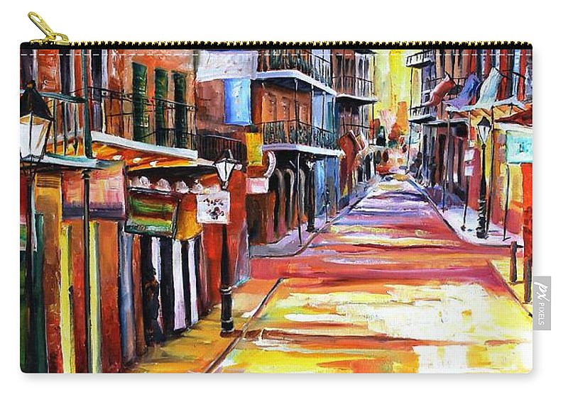 New Orleans Carry-all Pouch featuring the painting Rue Bourbon by Diane Millsap