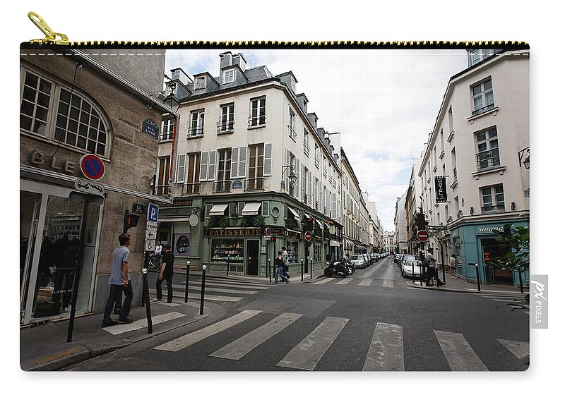 Rue Jacob Carry-all Pouch featuring the photograph Rue Jacob Paris by Anders Hingel