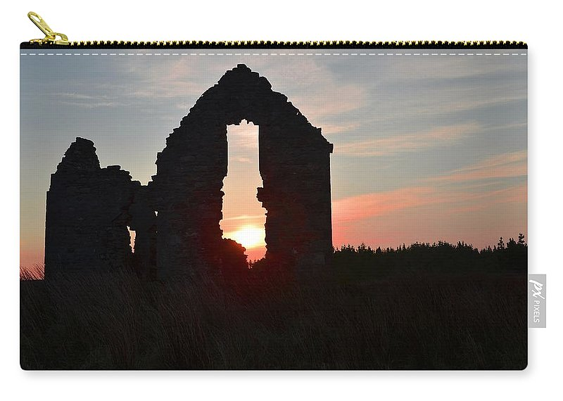 Ruin Carry-all Pouch featuring the photograph Ruin Of A Hunting Lodge Near Lough Easkey In County Sligo Ireland by Bill Cannon