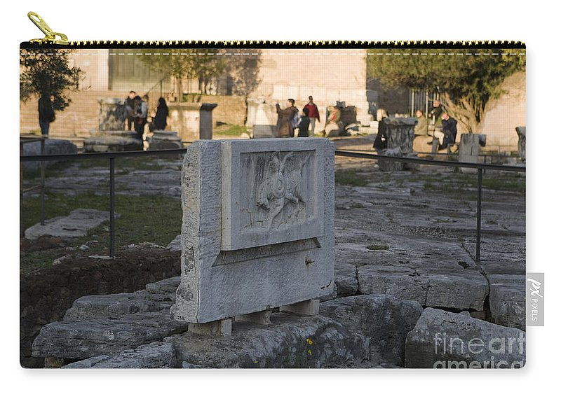 Travel Carry-all Pouch featuring the photograph Ruins At The Roman Forum by Jason O Watson