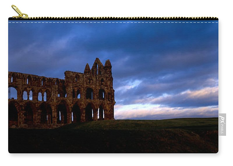 Photography Carry-all Pouch featuring the photograph Ruins Of A Church, Whitby Abbey by Panoramic Images