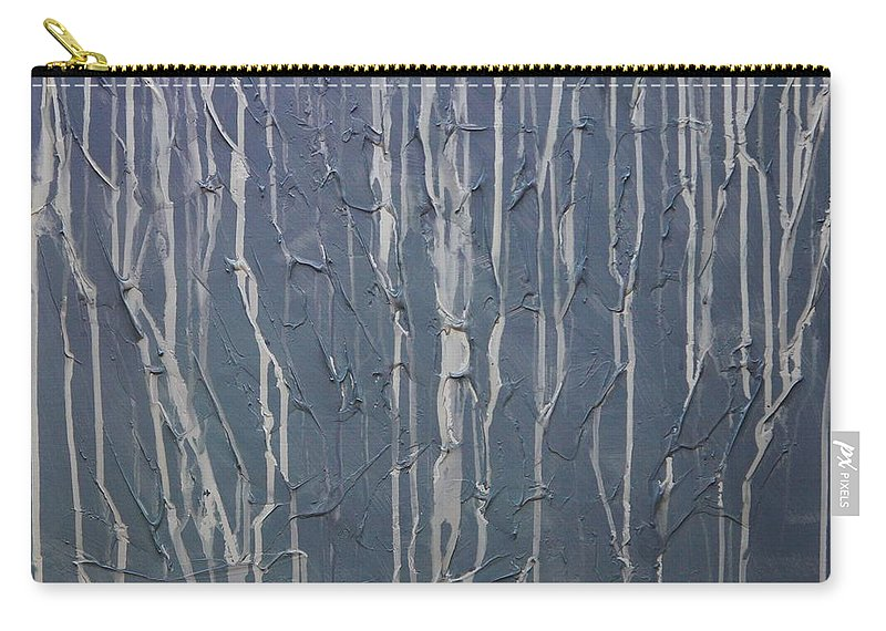 Abstract Carry-all Pouch featuring the painting Ruins by Sergey Bezhinets