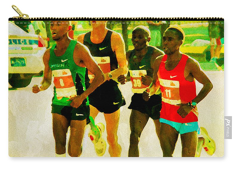 Runners Carry-all Pouch featuring the photograph Runners by Alice Gipson