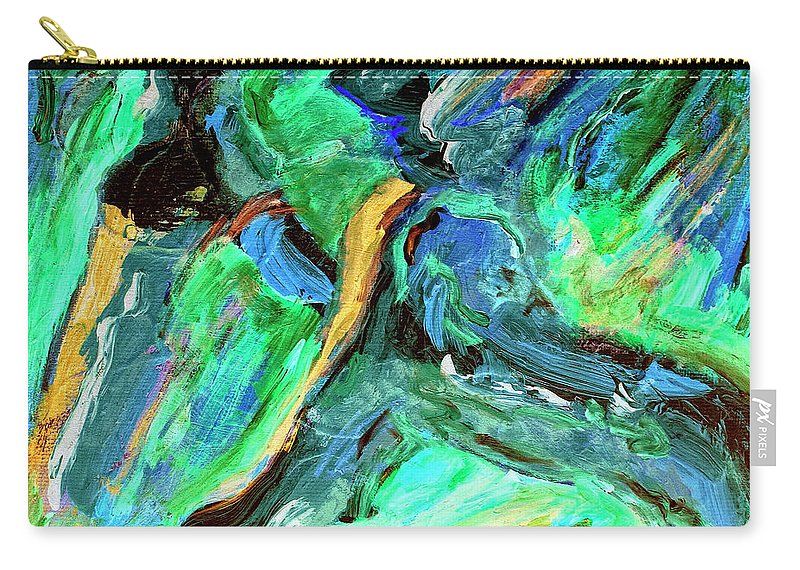Abstract Carry-all Pouch featuring the painting Runners by Dominic Piperata
