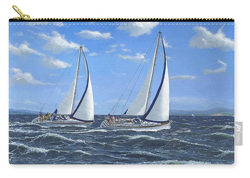 Landscape Carry-all Pouch featuring the painting Running Close Hauled by Richard Harpum
