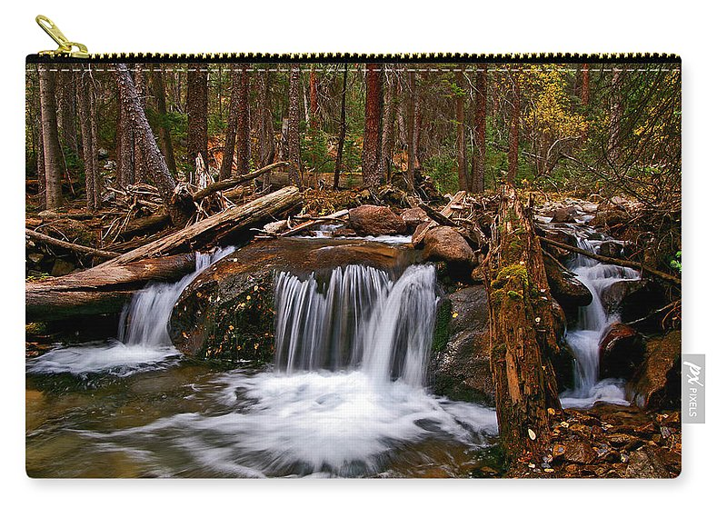 Colorado Carry-all Pouch featuring the photograph Running Down Antero by Jeremy Rhoades