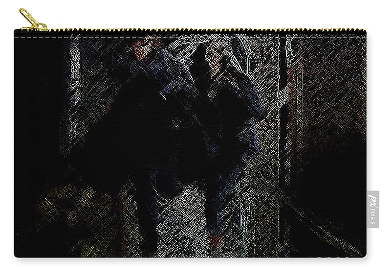 Men Carry-all Pouch featuring the digital art Running In The Shadows by George Pedro