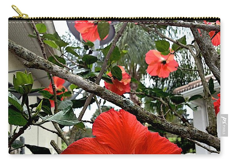 Blooms Carry-all Pouch featuring the photograph Running by Joseph Yarbrough