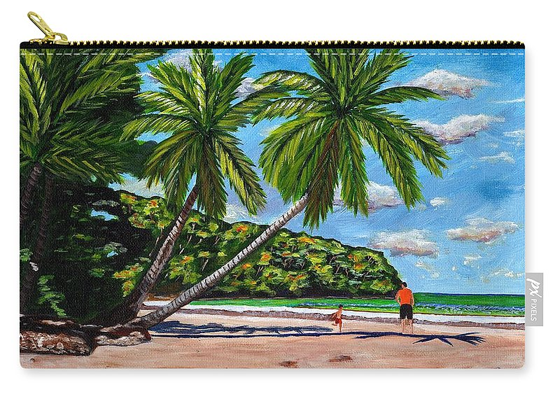 Landscape Carry-all Pouch featuring the painting Running by Laura Forde