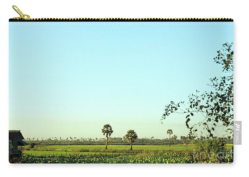 Cambodia Carry-all Pouch featuring the photograph Rural Cambodia by Rick Piper Photography