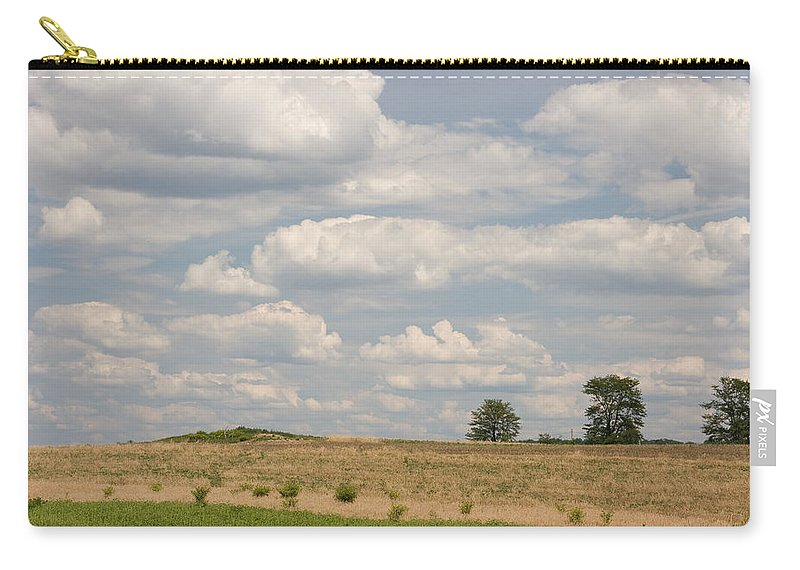 Landscape Carry-all Pouch featuring the photograph Rural Field Landscape In Maryland by Donna Haggerty