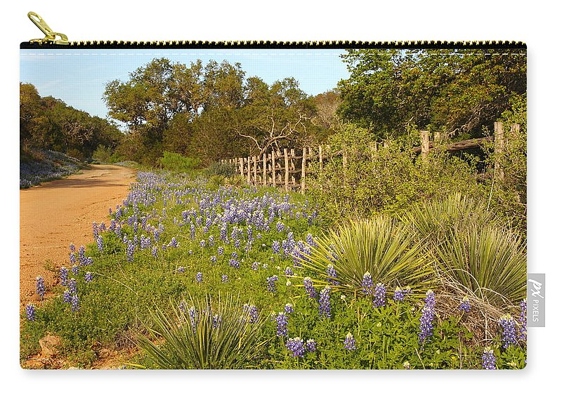 Wildflowers Carry-all Pouch featuring the photograph Rural Road 2am-110239 by Andrew McInnes