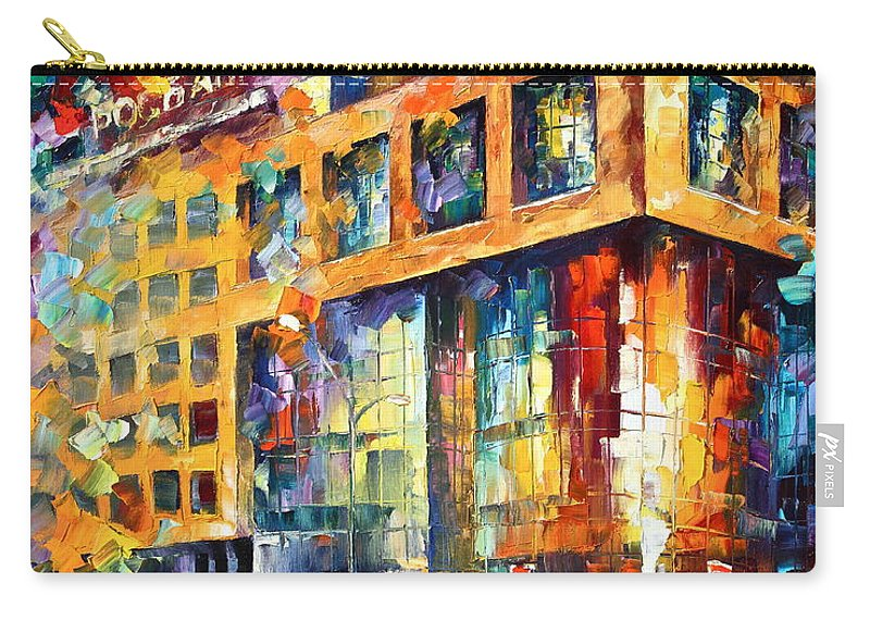 Afremov Carry-all Pouch featuring the painting Rusbank Moscow by Leonid Afremov